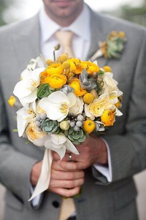 freesia-wedding - wedding color trends 2014